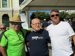 A presença dos amigos Dr. Deocir, Vicente e Homero