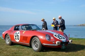 """""""1966, Ferrari, 275 GTB/C, Scaglietti, Berlinetta, John & Heather Mozart, 3rd, Judges, Judging, John Mozart, 2015"""""""